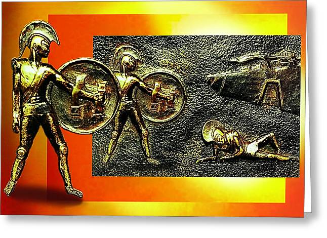 City Reliefs Greeting Cards - The Legends of Troy Greeting Card by Hartmut Jager