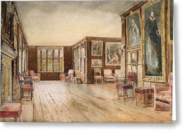 The Leicester Gallery, Knole House Greeting Card by David Hall McKewan