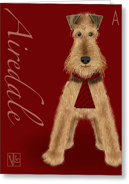 Valerie Drake Lesiak Greeting Cards - The Letter A Greeting Card by Valerie   Drake Lesiak