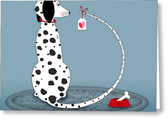 Valerie Lesiak Greeting Cards - The Letter D for Dalmatian Greeting Card by Valerie   Drake Lesiak