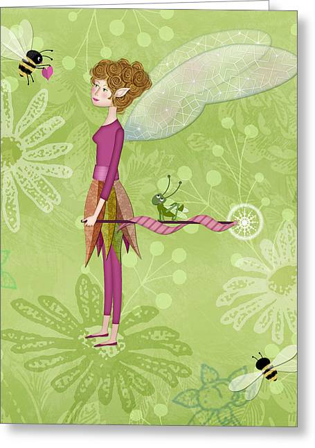 Valerie Lesiak Greeting Cards - The Letter F is for Fairy Greeting Card by Valerie   Drake Lesiak
