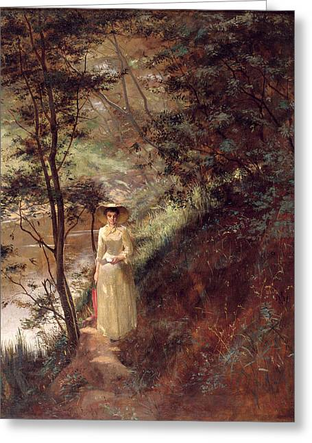 Frederick Greeting Cards - The Letter Greeting Card by Frederick McCubbin