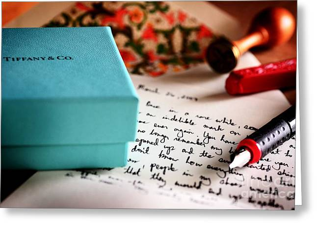 Love Letter Greeting Cards - The Letter Greeting Card by Jonas Luis