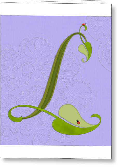 Val Lesiak Greeting Cards - The Letter L Greeting Card by Valerie   Drake Lesiak