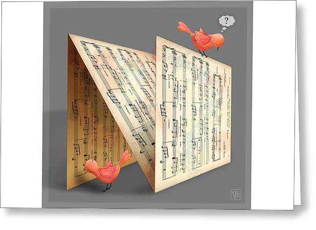 The Letter N Greeting Card by Valerie Drake Lesiak