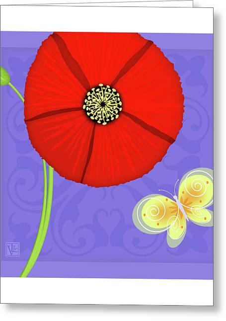 Val Lesiak Greeting Cards - The Letter P Greeting Card by Valerie   Drake Lesiak