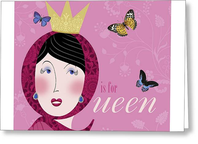 Valerie Drake Lesiak Greeting Cards - The Letter Q Greeting Card by Valerie   Drake Lesiak