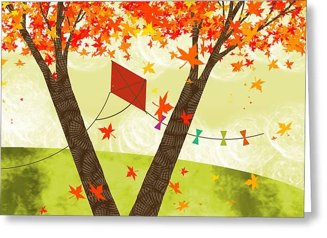 The Letter V Greeting Card by Valerie Drake Lesiak
