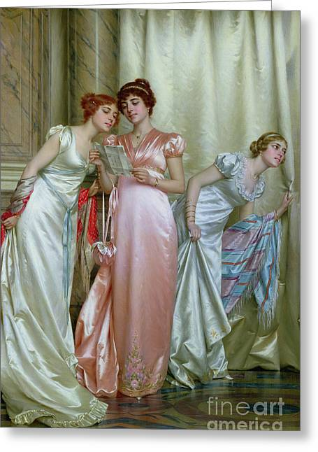 Recently Sold -  - Intrigue Greeting Cards - The Letter Greeting Card by Vittorio Reggianini