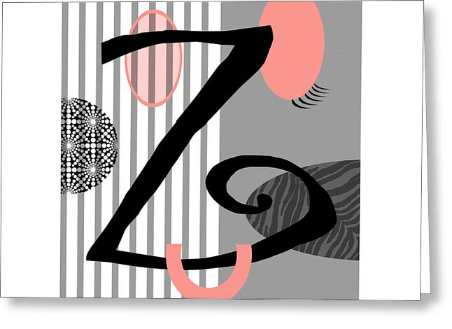 Valerie Drake Lesiak Greeting Cards - The Letter Z Greeting Card by Valerie   Drake Lesiak