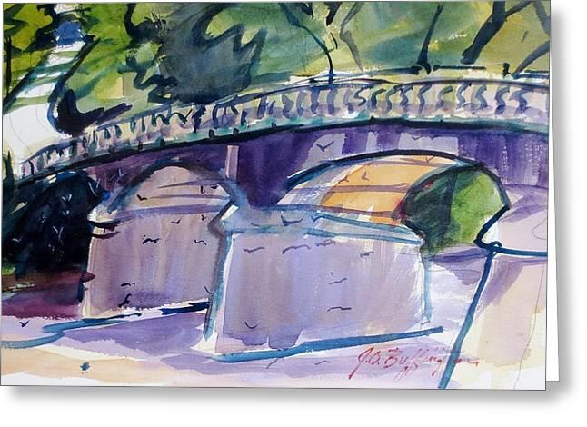 Lewisburg Greeting Cards - The Lewisburg Bridge Greeting Card by JULES Buffington
