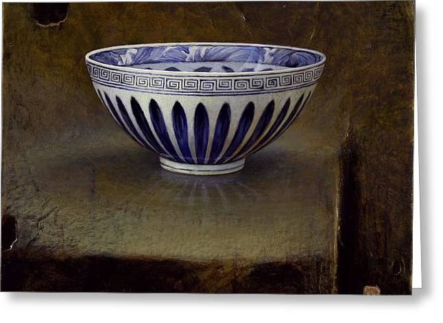 White Ceramics Greeting Cards - The Lianzi Bowl Greeting Card by Bruno Capolongo