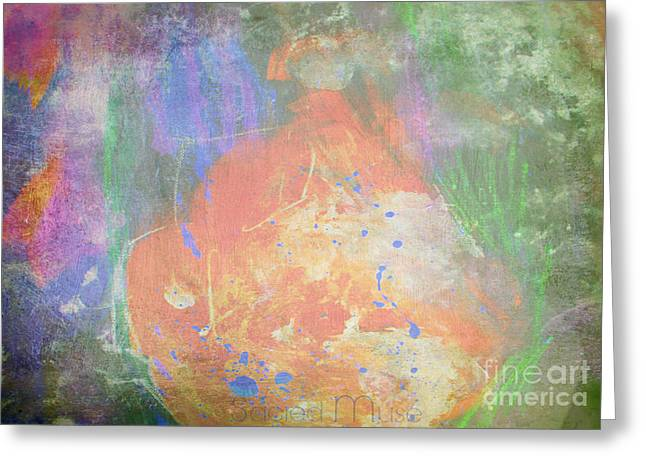 Liberation Mixed Media Greeting Cards - The Liberator  Greeting Card by Sacred  Muse
