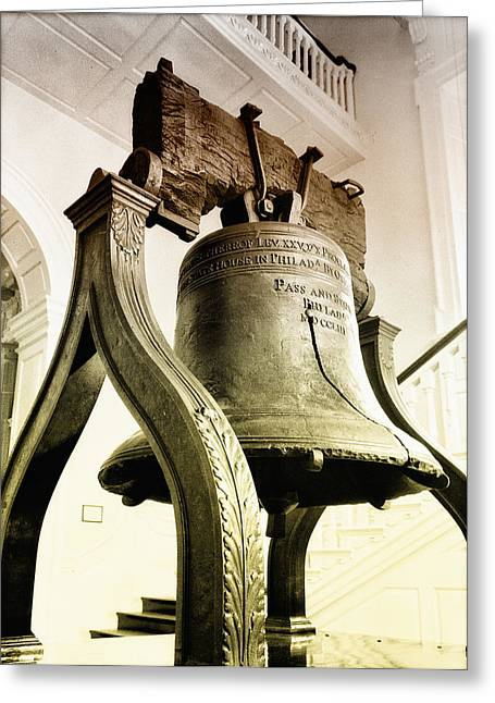 The Liberty Bell Greeting Card by Bill Cannon
