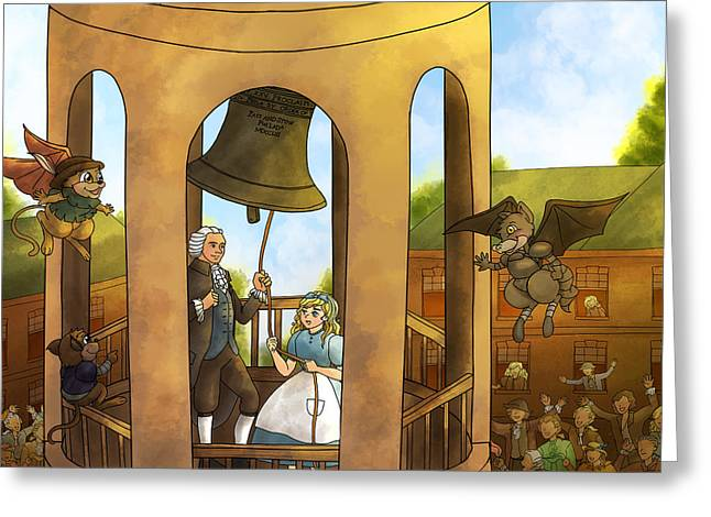 Betsy Bell Greeting Cards - The Liberty Bell Greeting Card by Reynold Jay