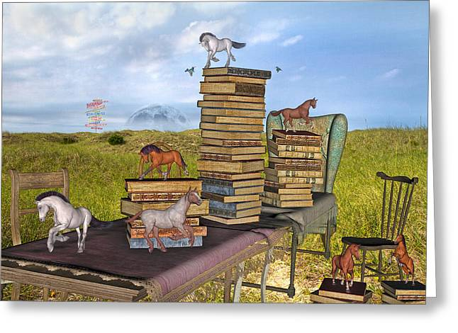 The Library Your Local Treasure Greeting Card by Betsy Knapp