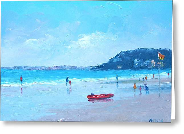 Beach Scenes Greeting Cards - The Life Boat Greeting Card by Jan Matson