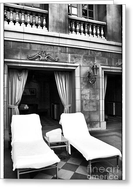 Chaise-lounge Photographs Greeting Cards - The Life Greeting Card by John Rizzuto