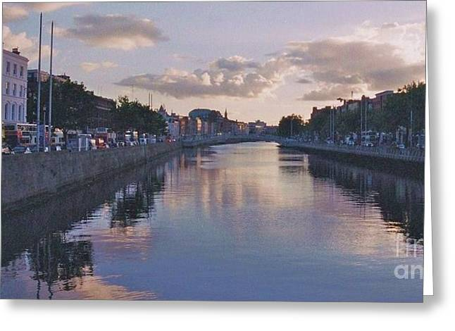 Tress Greeting Cards Greeting Cards - The Liffey Greeting Card by Matthew Dagan