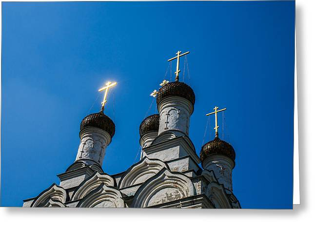 Cupola Greeting Cards - The Light Greeting Card by Alexander Senin