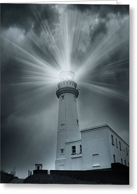 Haunted House Digital Greeting Cards - The Light House Greeting Card by Svetlana Sewell