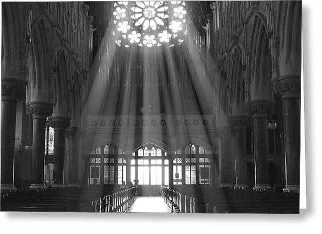 Cathedral Greeting Cards - The Light - Ireland Greeting Card by Mike McGlothlen
