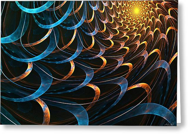 Fractal Greeting Cards - The Light Greeting Card by Lourry Legarde