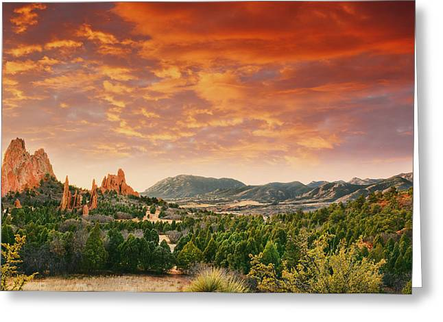 Garden Of The Gods Greeting Cards - The Light Of Day Greeting Card by Tim Reaves