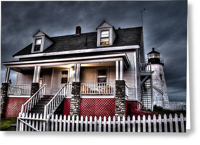 Old Maine Houses Greeting Cards - The Light of Pemaquid Greeting Card by Deborah Klubertanz