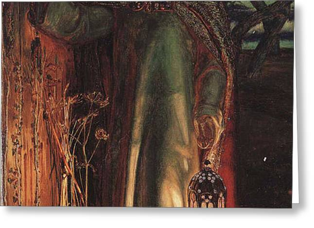 The Light of the World Greeting Card by William Holman Hunt