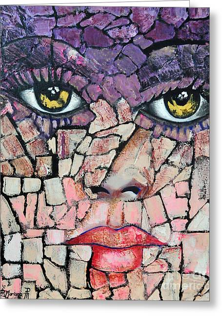 Face Sculptures Greeting Cards - The light of your eyes Greeting Card by Mariana Pittman