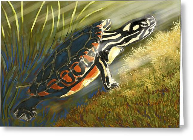 Waterlife Greeting Cards - The Light Seeker Greeting Card by Alison Barrett Kent