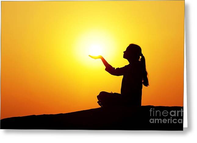 Spirituality Photographs Greeting Cards - The Light Greeting Card by Tim Gainey