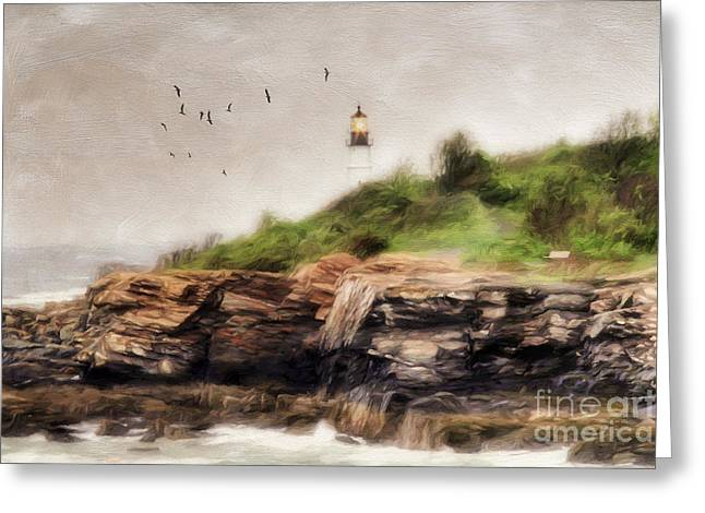 Portland Head Lighthouse Greeting Cards - The Light Will Guide You Greeting Card by Darren Fisher
