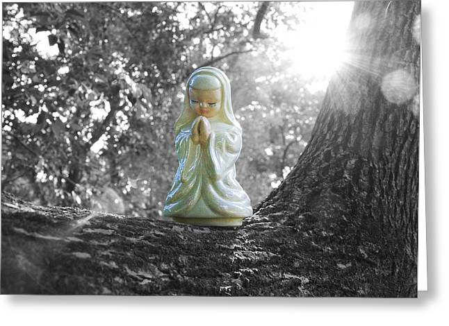 Christ Child Greeting Cards - The Light Greeting Card by William Patrick