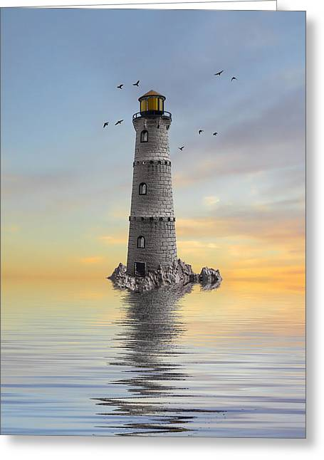 Lighthouse Prints Greeting Cards - The Lighthouse 2 Greeting Card by Sharon Lisa Clarke