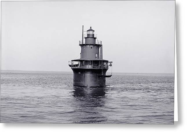 Navigation Greeting Cards - The Lighthouse Circa 1906 Greeting Card by Aged Pixel