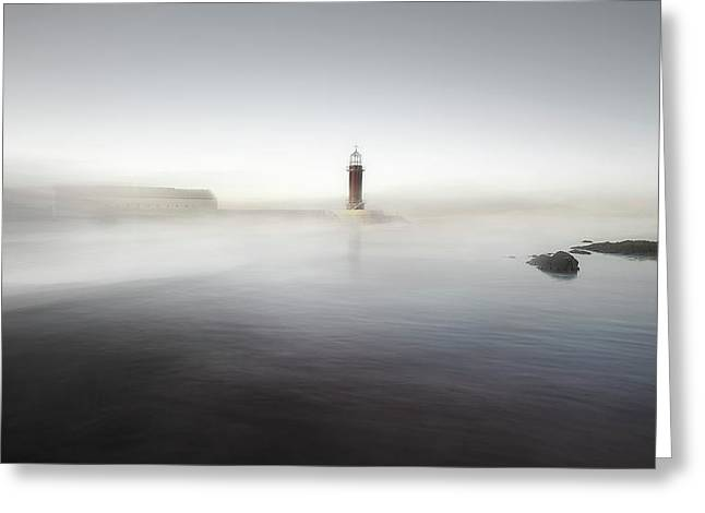 The Lighthouse Of Nowhere Greeting Card by Santiago Pascual Buye