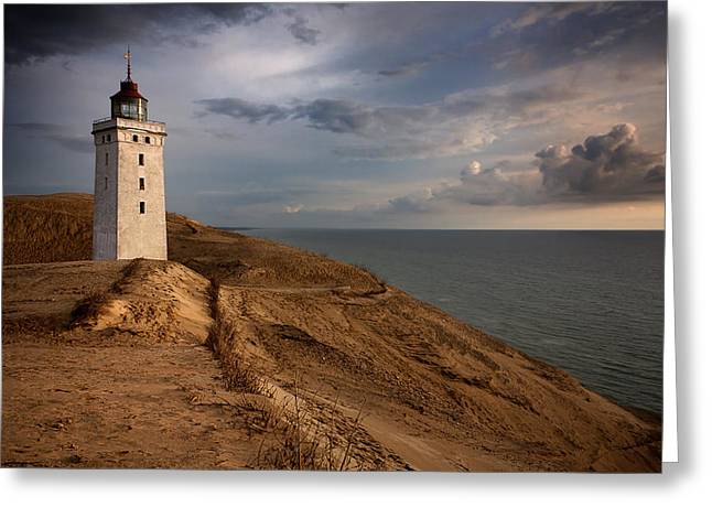 Jylland Greeting Cards - The Lighthouse Greeting Card by Paul Davis