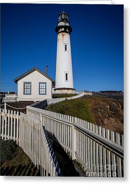 Pigeon Point Light Station Greeting Cards - the Lighthouse Greeting Card by Steven Reed
