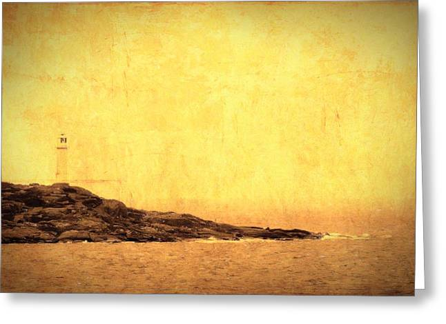 Atlantic Beaches Mixed Media Greeting Cards - The Lighthouse Greeting Card by Toppart Sweden