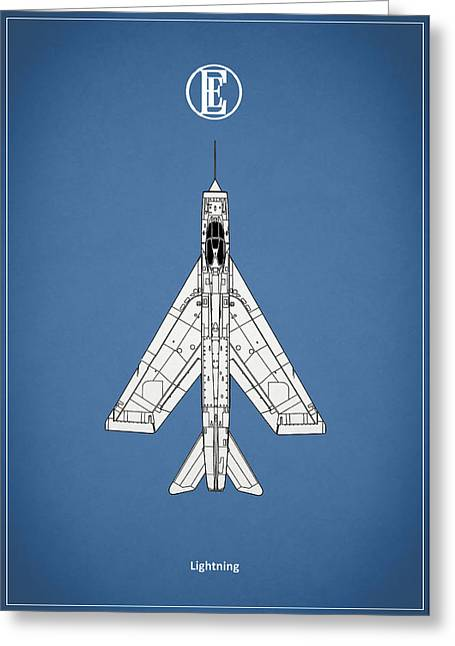 Airplane Greeting Cards - The Lightning Greeting Card by Mark Rogan