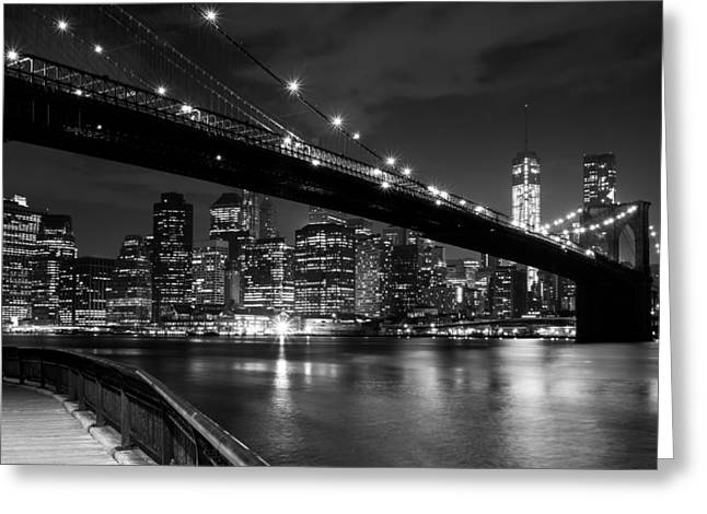 New At Digital Greeting Cards - The Lights of Lower Manhattan Greeting Card by Clay Townsend