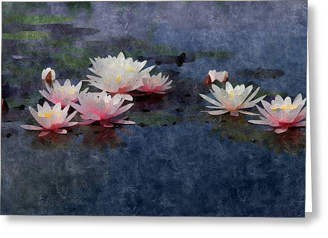 Waterscape Mixed Media Greeting Cards - The Lily Pond Greeting Card by Karyn Robinson