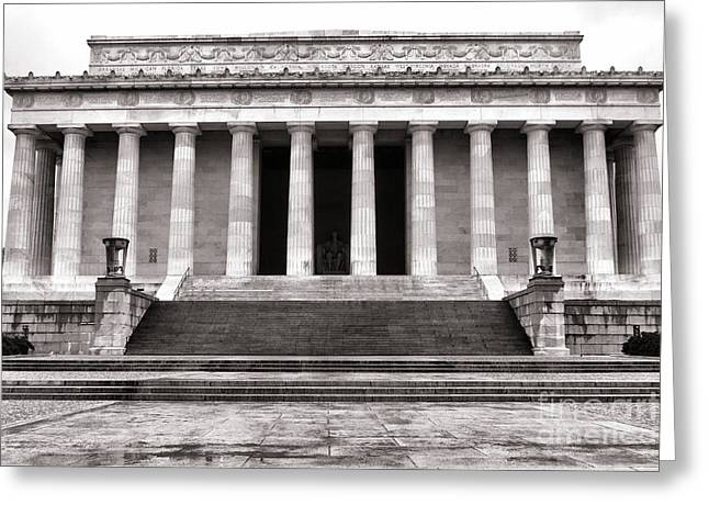 Greek Sculpture Greeting Cards - The Lincoln Memorial Greeting Card by Olivier Le Queinec