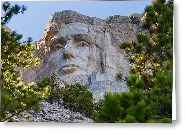 Borglum Greeting Cards - The Lincoln Task Uncompleted Greeting Card by John Bailey