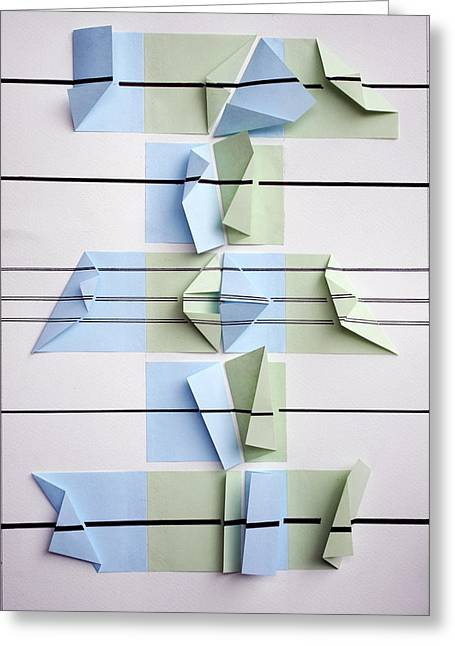 Surreal Geometric Mixed Media Greeting Cards - The lines are straight Greeting Card by Sumit Mehndiratta