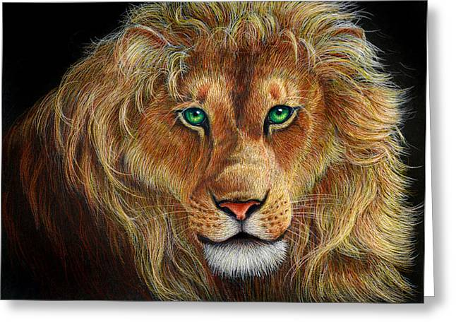 C.s Lewis Greeting Cards - The Lion Greeting Card by Heidi Carson