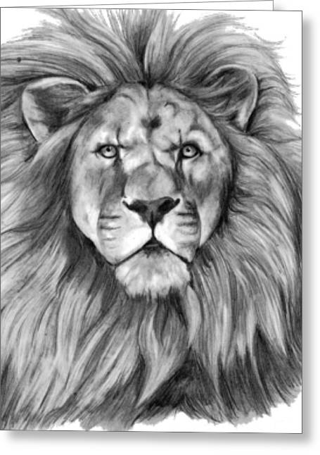 Art Product Drawings Greeting Cards - The Lion King Greeting Card by Presilla