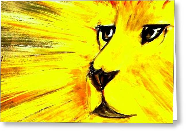 Lions Greeting Cards - The Lion of Judah Has Triumphed Greeting Card by Hazel Holland